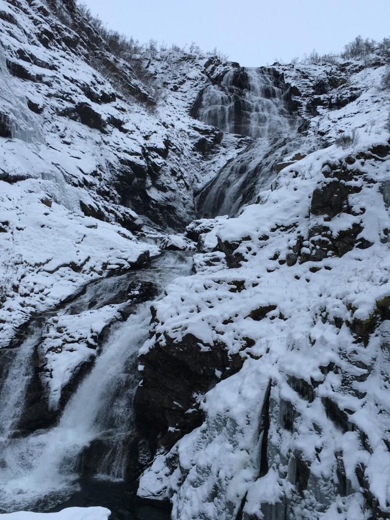 Kjosfossen Waterfall on Gudvangen Fjord Cruise