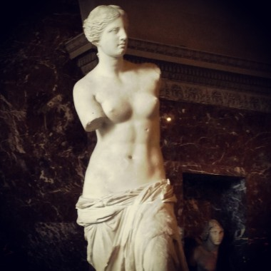 Venus de Milo displayed at the Louvre.