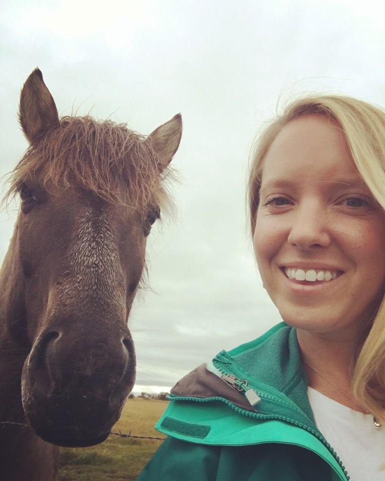 Icelandic pony selfie